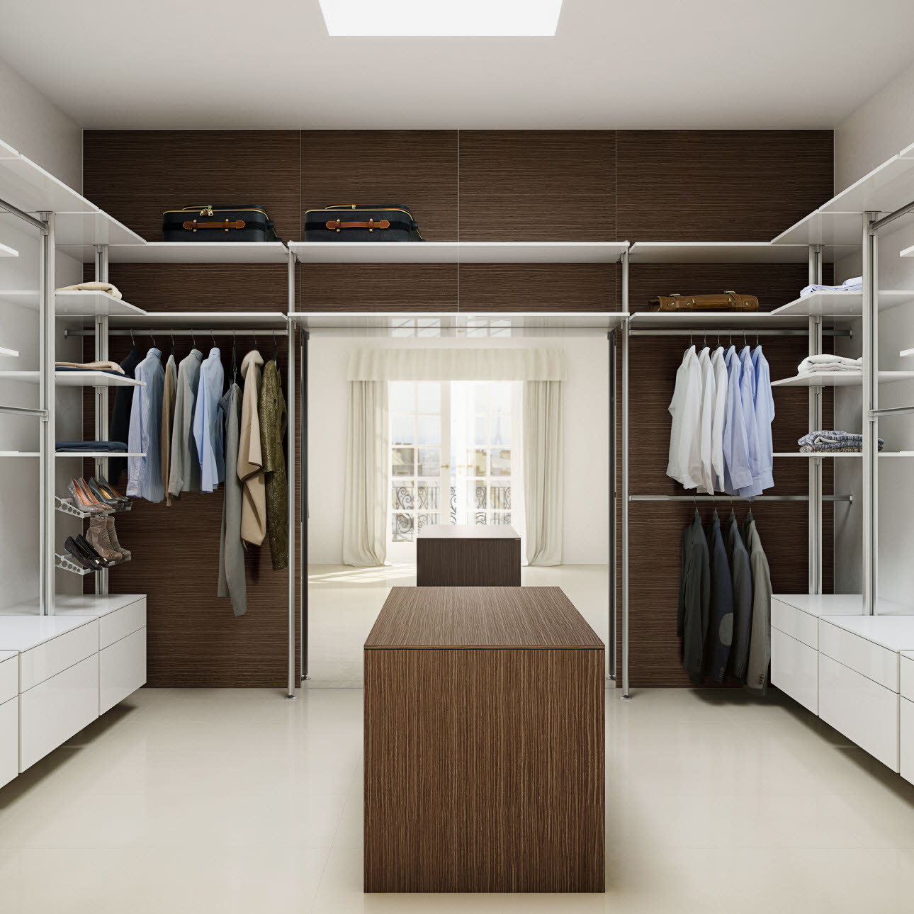 garderobe inspirasjon til walk in closet og garderober uno form. Black Bedroom Furniture Sets. Home Design Ideas